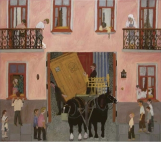 Moving to a New Apartment Tempera on canvas; Collection of the Khononov family